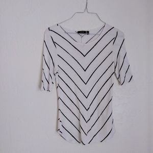WOMENS APT 9 BLACK AND WHITE SHIRT TOP SZ XS SMALL